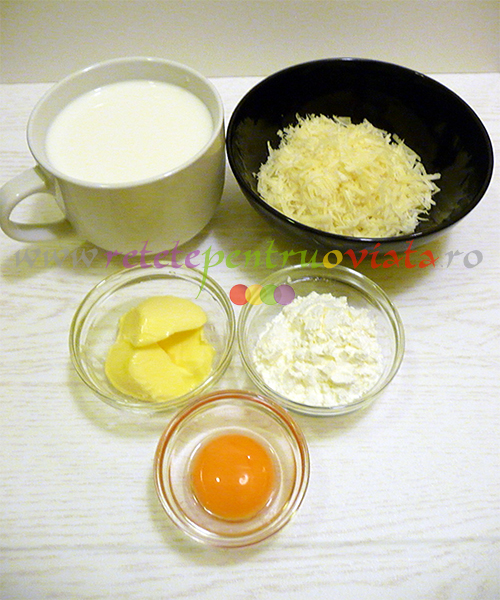 Reteta de vinete umplute cu carne tocata si sos bechamel - pasul 5. Ingrediente pentru sosul bechamel