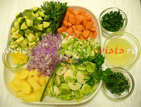 Ingrediente pentru reteta de supa de legume