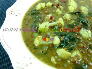 Reteta de supa de linte cu conopida, spanac si curry - poza 2