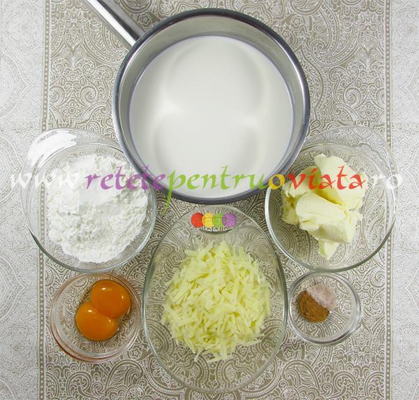 Reteta de paste cu carne tocata - pastitsio - ingrediente pentru sosul bechamel