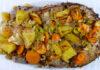 Reteta de peste cu legume la cuptor