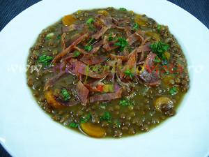 Supa de linte cu bacon si menta - poza 3