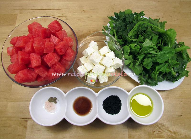Reteta salata pepene rosu cu branza - ingrediente