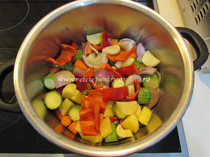 Ingrediente pentru supa crema de legume