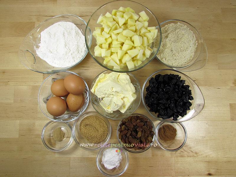 Ingrediente Prajitura cu Mere si Fructe Uscate (Prajitura Fara Gluten)