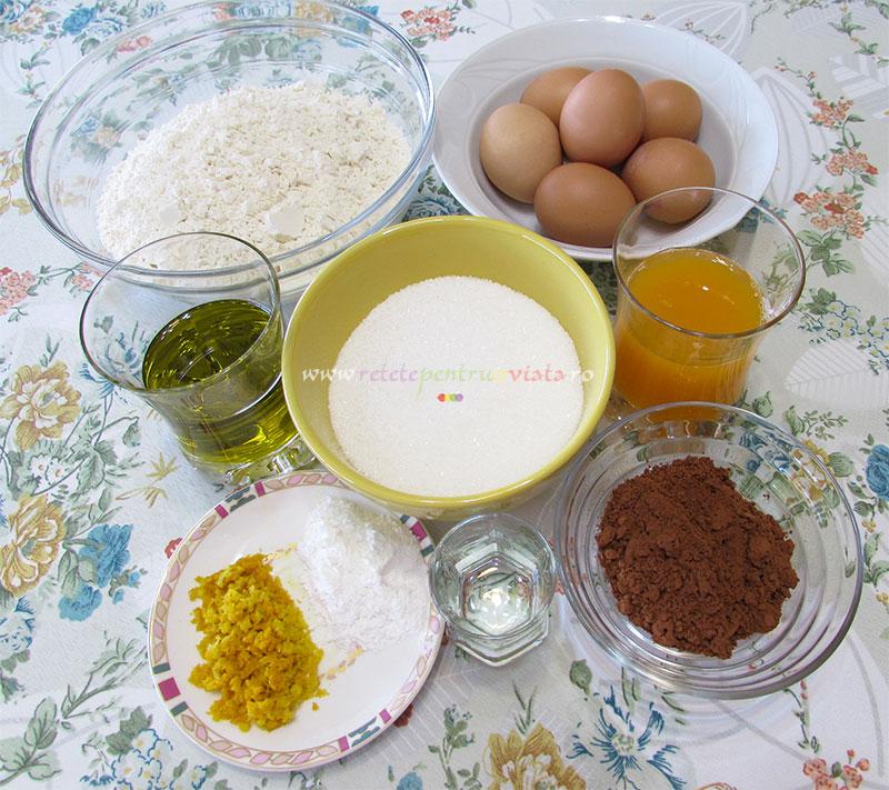 Ingrediente pentru reteta de chec marmorat