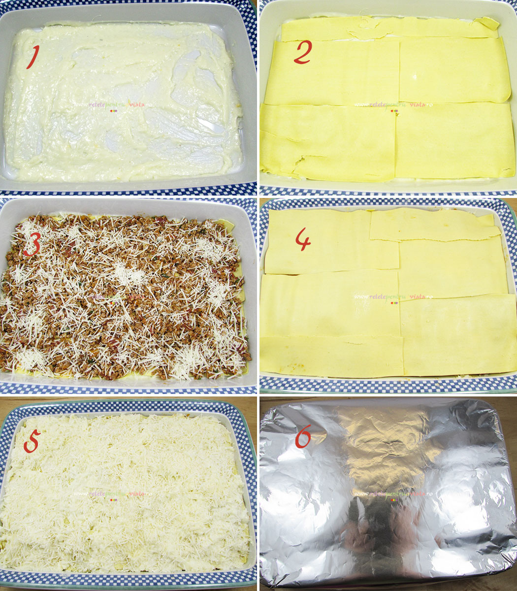Reteta de lasagna cu carne tocata - pregatirea