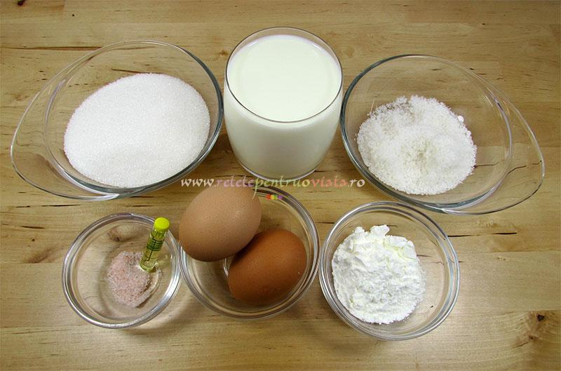 Reteta de prajitura cu nuca de cocos - ingrediente pentru crema