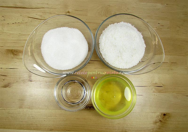 Reteta de prajitura cu nuca de cocos - ingrediente pentru glazura