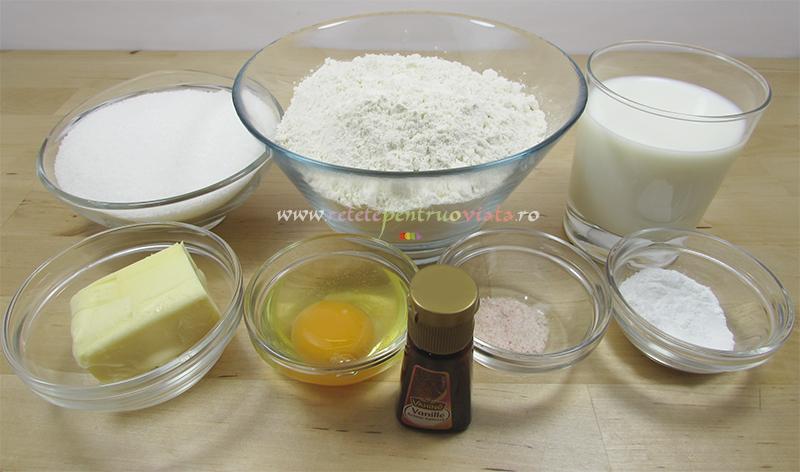 Ingrediente pentru reteta de prajitura tavalita cu nuca de cocos
