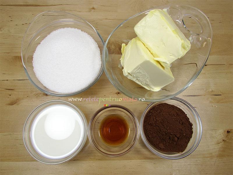 Reteta de prajitura tavalita cu nuca de cocos - ingrediente pentru glazura de ciocolata