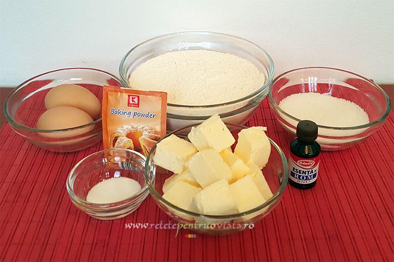 Ingrediente reteta placinta cu mere cu aluat fraged