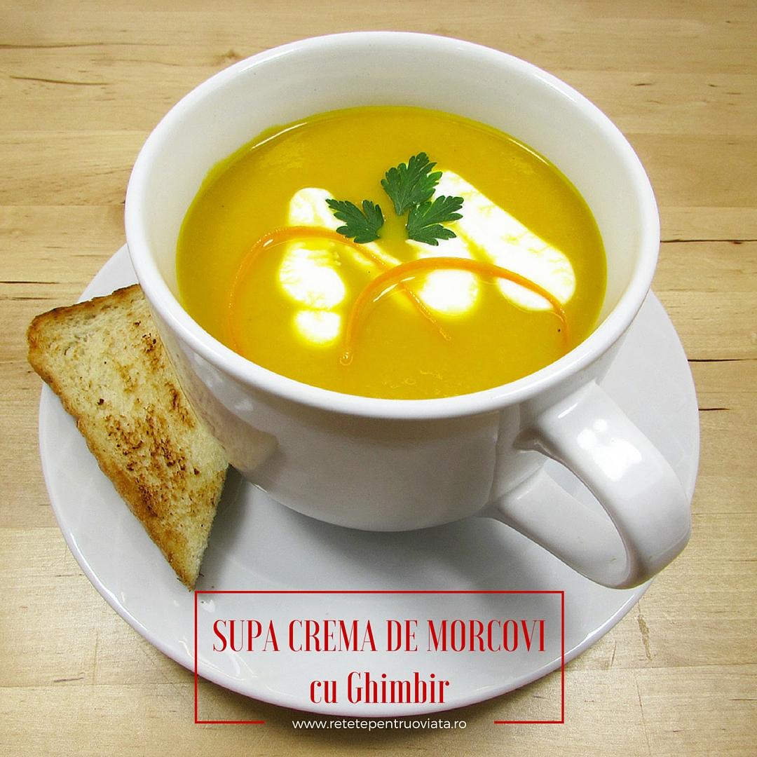 Supa Crema de Morcovi cu Ghimbir