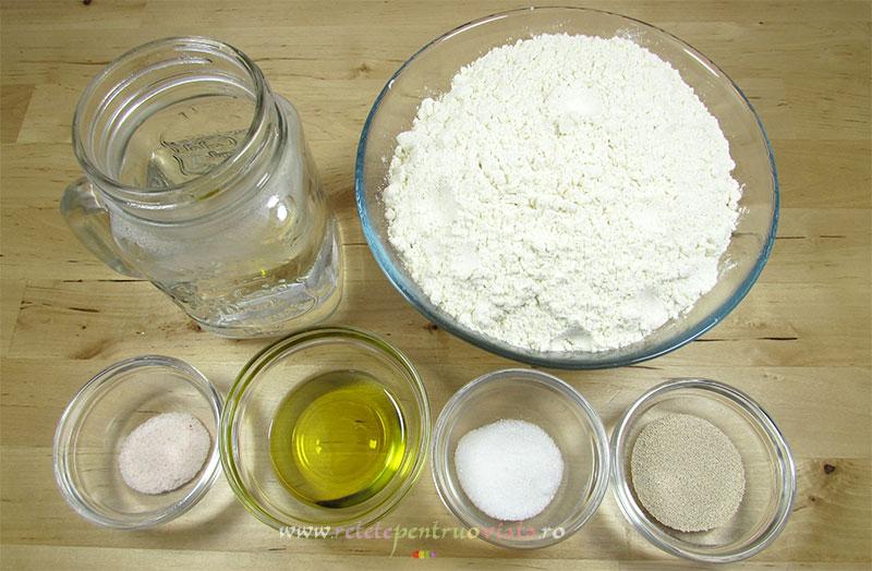 Ingrediente pentru reteta de aluat de pizza