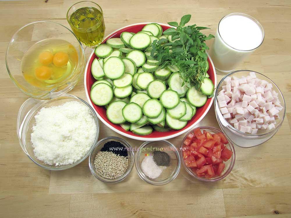 Reteta de Tarta cu Dovlecei, Busuioc si Sunca Presata - Ingrediente pentru Umplutura