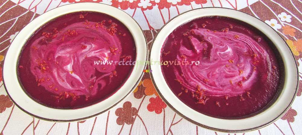 Supa Crema de Sfecla Rosie cu Portocala 3