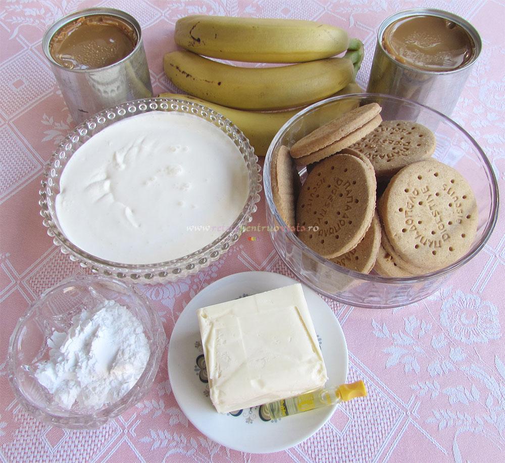 Prajitura cu Banane si Frisca poza 1