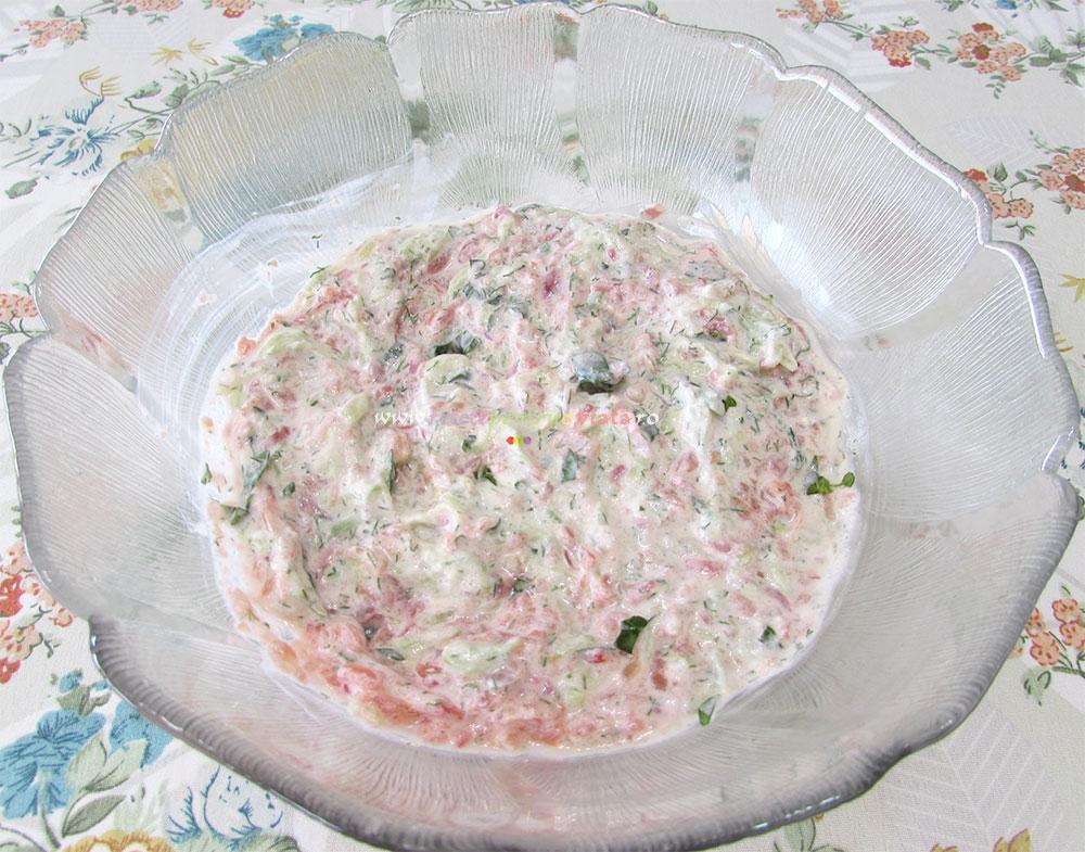 Salata de Paste cu Sos de Iaurt poza 4