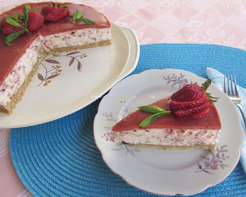 Cheesecake cu Jeleu de Capsuni poza 14