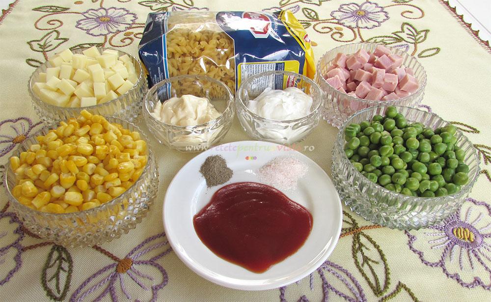 Salata de Paste cu Sunca si Legume poza 1
