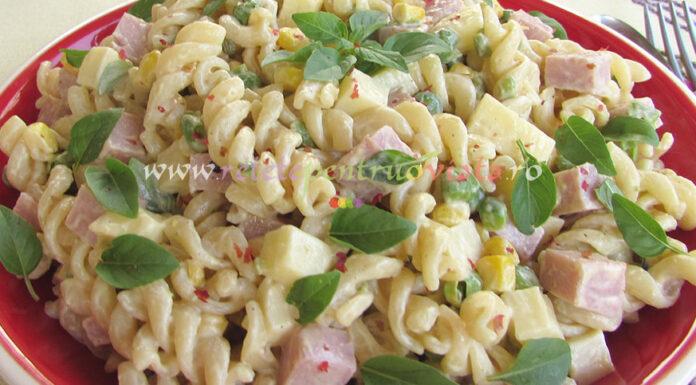 Salata de Paste cu Sunca si Legume poza 6