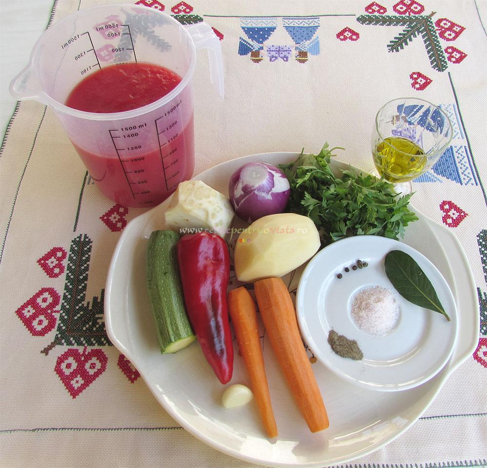 Supa Crema de Rosii cu Galuste poza 2