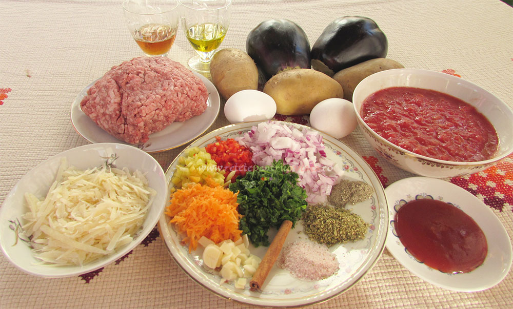 Musaca de Cartofi cu Vinete si Carne poza 1