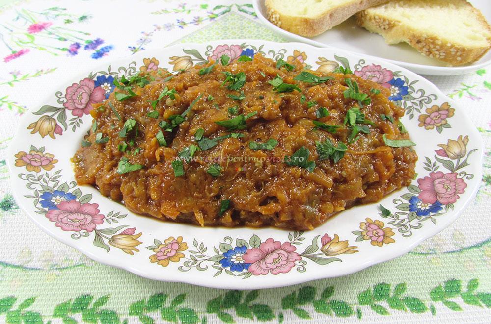 Salata de Vinete Picanta si Aromata poza 2