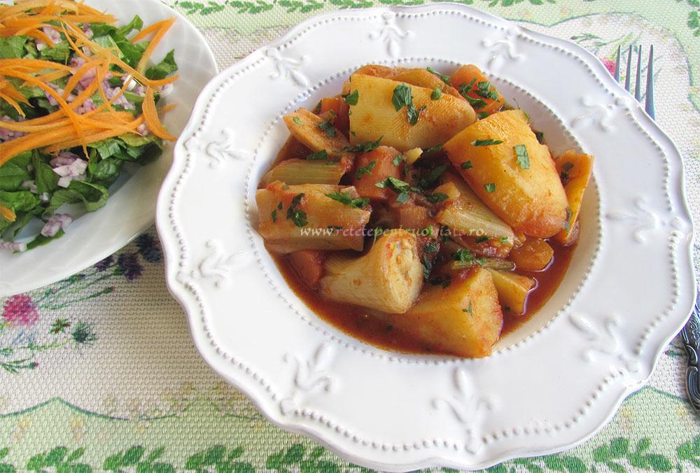 Mancare de Praz cu Cartofi poza 6