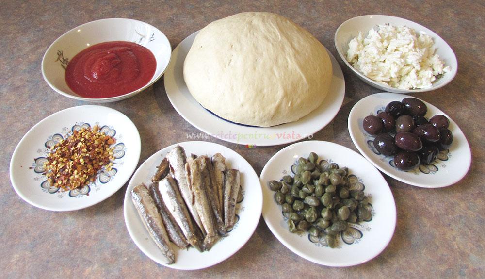 Pizza Arrabiata cu Ansoa si Mozzarela poza 2