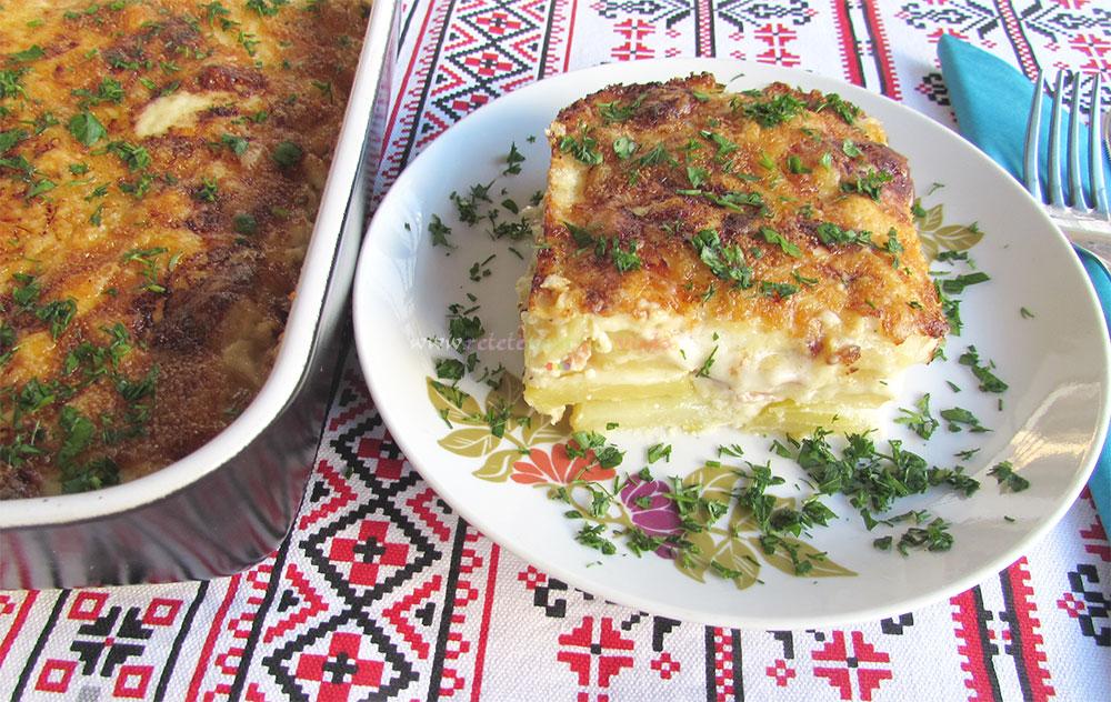 Cartofi Gratinati cu Sos Bechamel poza 9