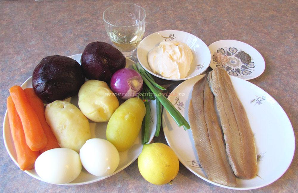 Salata Suba cu Peste Marinat poza 2
