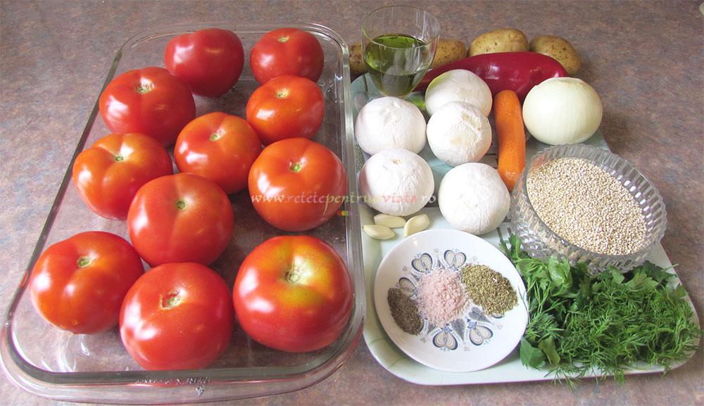 Rosii Umplute cu Quinoa si Ciuperci poza 2