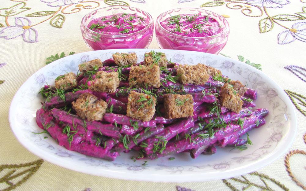 Salata de Fasole Verde si Sfecla poza 5