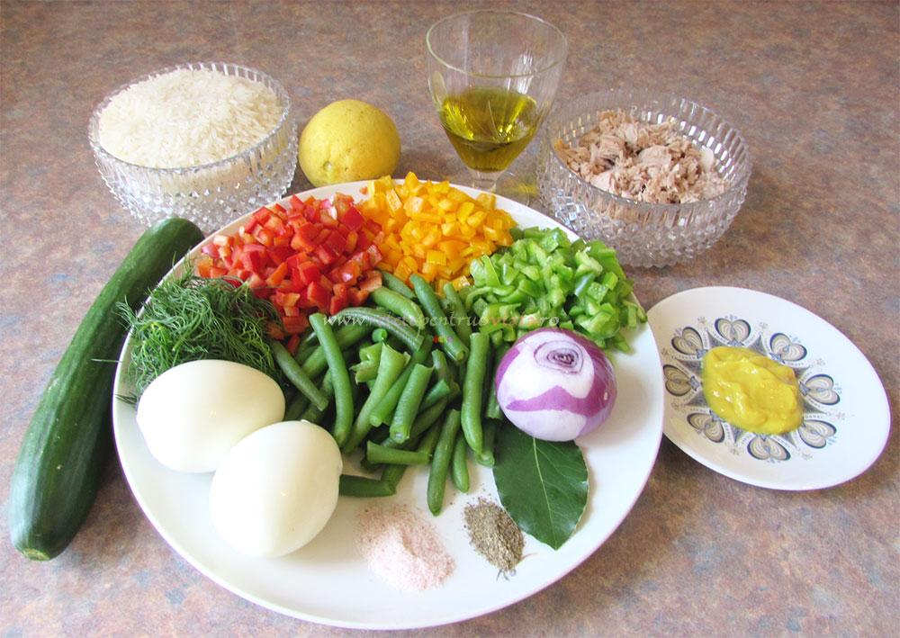 Salata de Orez cu Ton si Legume poza 2