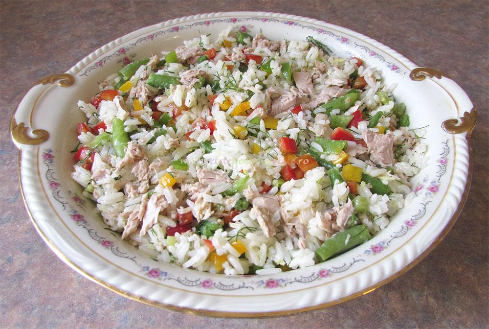 Salata de Orez cu Ton si Legume poza 4